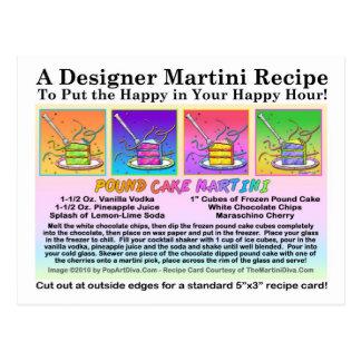 Postal de la tarjeta de la receta de Martini del b