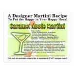 Postal de la tarjeta de la receta de Martini del c
