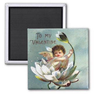 Postal de la tarjeta del día de San Valentín del Imán Cuadrado