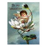 Postal de la tarjeta del día de San Valentín del v