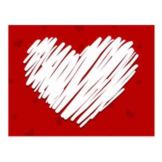 Postal de la tarjeta del día de San Valentín