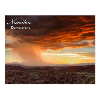 Postal de la tempestad de truenos de Namibia - de