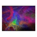 Postal de la textura del fractal del arco iris