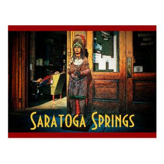 Postal de la tienda de cigarro de Saratoga