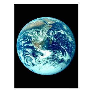 Postal de la tierra del planeta