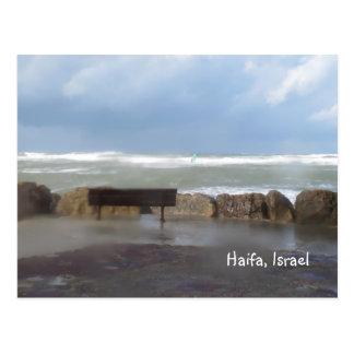 Postal de la tormenta de la playa