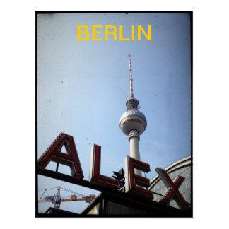 Postal de la torre de Berlín Alexander Platz TV