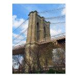 Postal de la torre del puente de Brooklyn