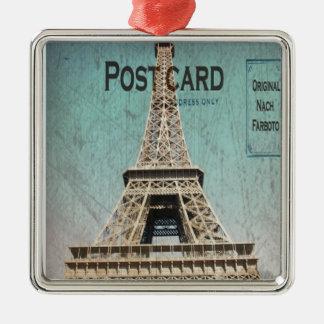 Postal de la torre Eiffel de París Adorno De Reyes