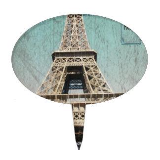 Postal de la torre Eiffel de París Decoración De Tarta