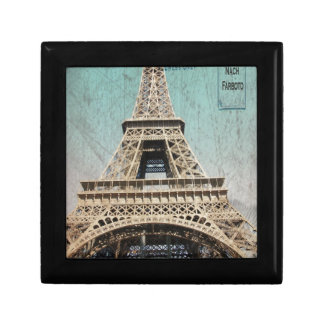 Postal de la torre Eiffel de París Cajas De Regalo