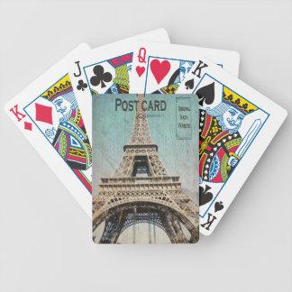 Postal de la torre Eiffel de París Barajas De Cartas