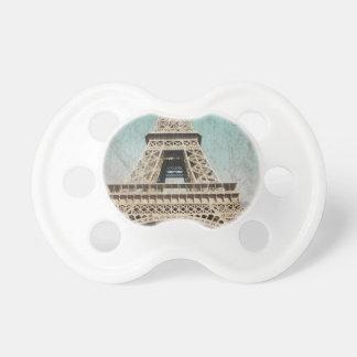 Postal de la torre Eiffel de París Chupetes De Bebe