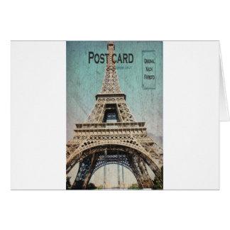 Postal de la torre Eiffel de París Felicitaciones