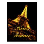 Postal de la torre Eiffel de París Francia