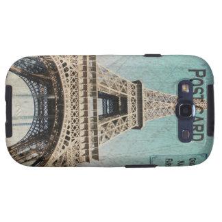 Postal de la torre Eiffel de París Samsung Galaxy S3 Protector