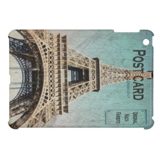 Postal de la torre Eiffel de París iPad Mini Funda