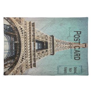 Postal de la torre Eiffel de París Mantel Individual