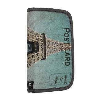 Postal de la torre Eiffel de París Organizador
