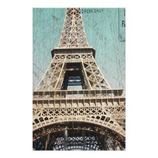 Postal de la torre Eiffel de París Papelería
