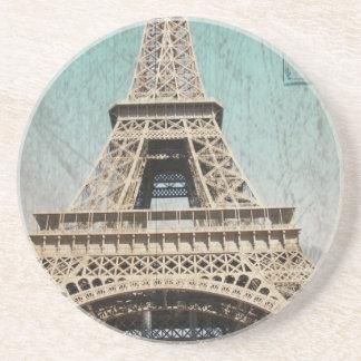 Postal de la torre Eiffel de París Posavasos Para Bebidas