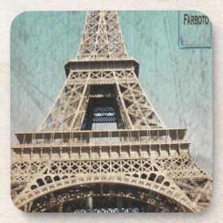Postal de la torre Eiffel de París Posavasos