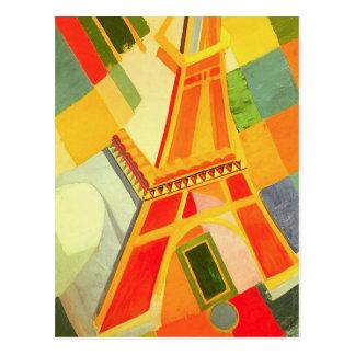 Postal de la torre Eiffel de Roberto Delaunay