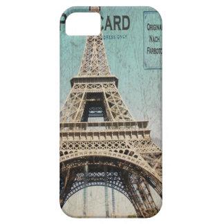 postal de la torre Eiffel del caso del iphone 5 de iPhone 5 Case-Mate Carcasa