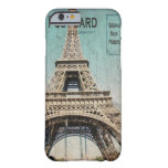 postal de la torre Eiffel del caso del iPhone 6 de Funda De iPhone 6 Barely There