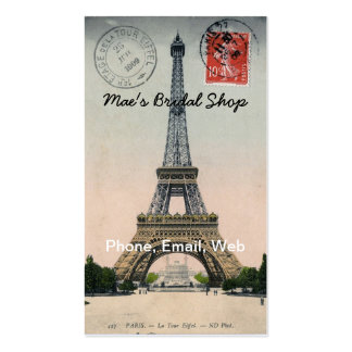 Postal de la torre Eiffel del vintage Tarjetas De Visita