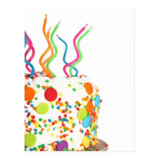 Postal de la torta de cumpleaños