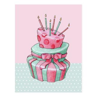 Postal de la torta de la celebración