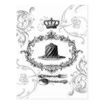 postal de la torta del francés del vintage