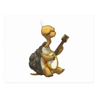 Postal de la tortuga del Banjo-Strummin'