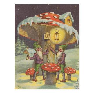 Postal de la tostada del Año Nuevo