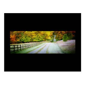 Postal de la trayectoria del otoño