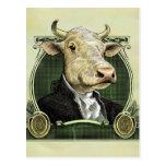 Postal de la vaca del dólar
