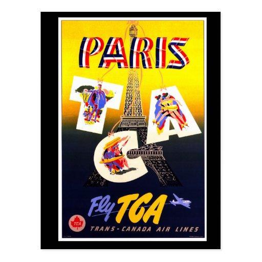 Postal de la vertical de París del destino