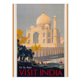 Postal de la vertical del Taj Mahal