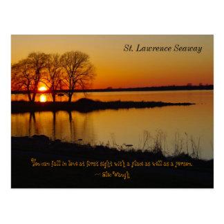 Postal de la vía marítima del St. Lorenzo en la pu