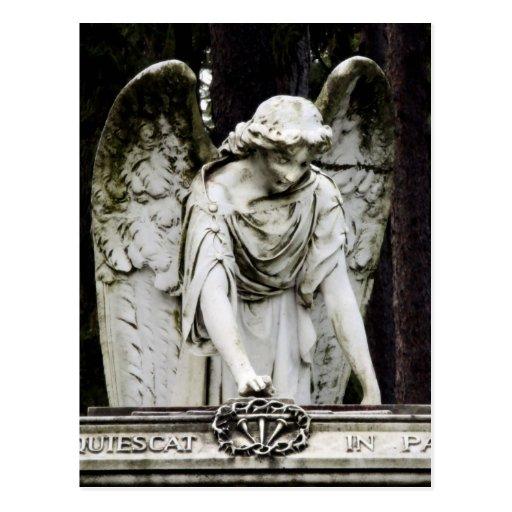 Postal de la visita del ángel