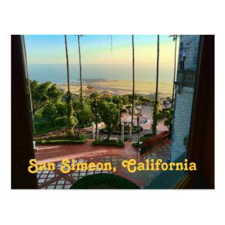 Postal de la vista al mar de San Simeon