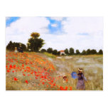 Postal de las amapolas de Monet