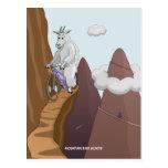 Postal de las cabras de la bici de montaña