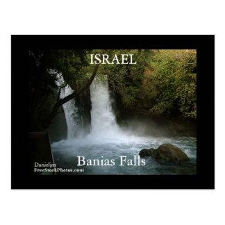 Postal de las caídas de ISRAEL Banias