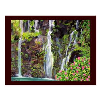 Postal de las cascadas de Hana