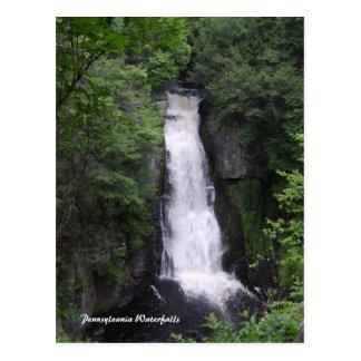 Postal de las cascadas de Pennsylvania