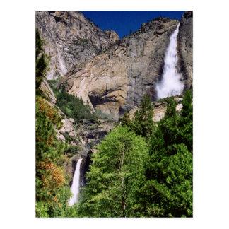 Postal de las cataratas de Yosemite