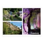 Postal de las cavernas de la ciudad de Luxemburgo