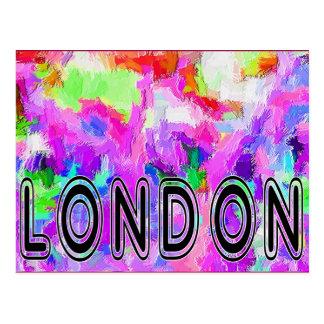Postal de las celebraciones del carnaval de Londre